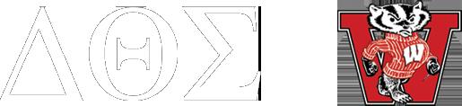 Delta Theta Sigma Logo with UW Bucky Mascot